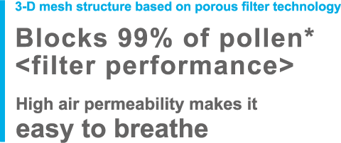 High air permeability makes it easy to breathe